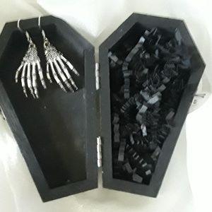 BeaslePunk Art Original Accents - Midnight Tree - Glows in the dark/comes w/earrings
